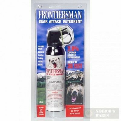 FRONTIERSMAN Bear Pepper SPRAY 35Ft Range 9.2oz + Holster FBAD07 NEW *FAST SHIP*