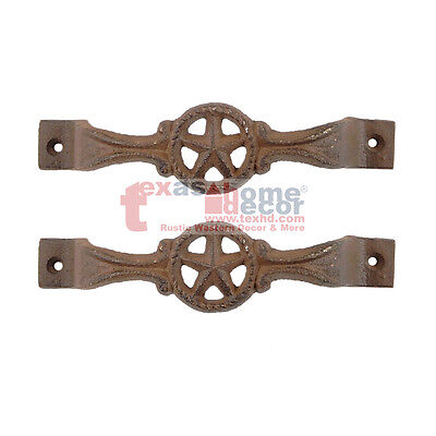 6 Star Cast Iron Antique Style RUSTIC Barn Handle, Gate Draw