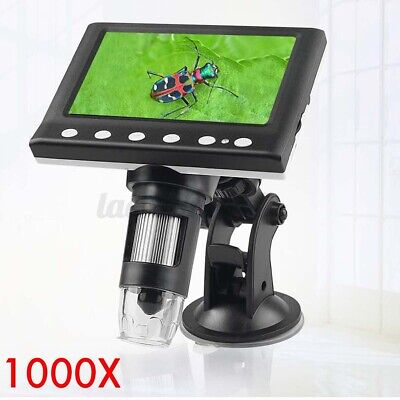 4.3 1000x Electronic Digital Video Microscope Lcd Monitor Led Magnifier Us
