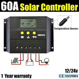 60A 12V-24V LCD Display PWN Solar Panel Regulator power charger Wangara Wanneroo Area Preview