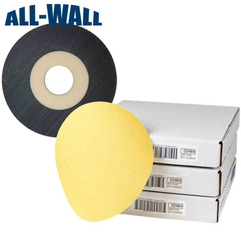 "Norton 9"" Discs for Porter Cable 7800 Drywall Sander: 120 Grit 45 ct. + Backer"