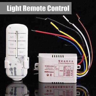 315MHz 4CH Wireless Smart Light Remote Control Switch Receiver Transmitter 220V