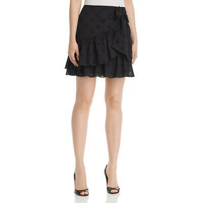 Le Gali Womens Frances Eyelet Ruffled Cotton Mini Skirt BHFO 0208