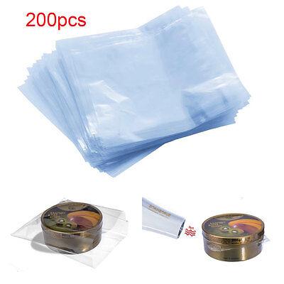 Lots Of 200pcs 6 X 6 Clear Waterproof Pof Heat Shrink Wrap Film Flat Bags Wrap