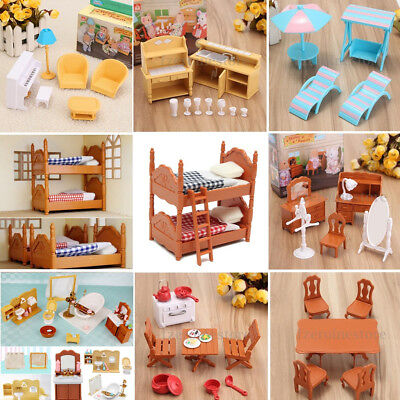 Dolls House Kitchen Room Miniature Furniture Set Kids Child Christmas Gifts Toys