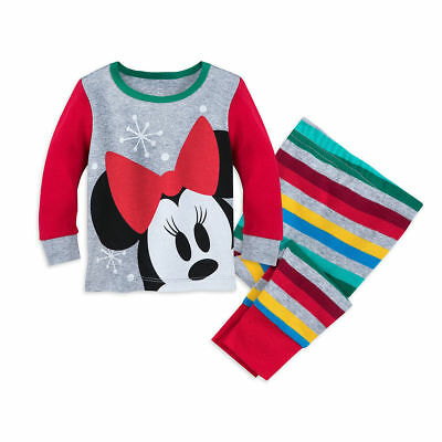 Disney Authentic Minnie Mouse Holiday Pajamas Baby Girls 0 3 6 9 12 18 24 Months