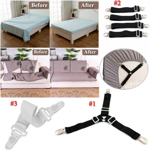Fastener Elastic Perfect Fitted Bed Sheet Holder Mattress Gripper Clip Practical