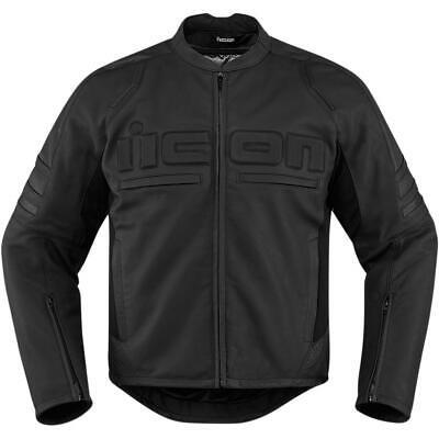 Icon Motorhead 2 Leather Jacket Stealth (Black, Small)