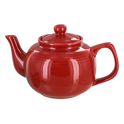English Tea Store Brand 6 Cup Teapot - Red Gloss Finish