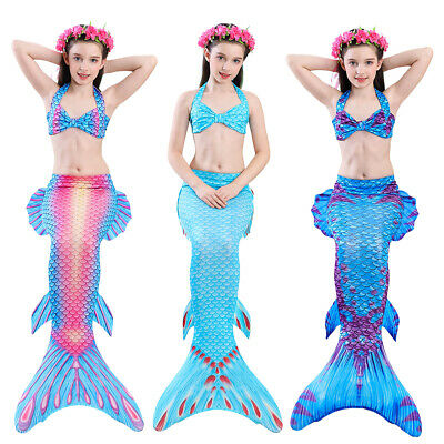 Kids Girls Boys Mermaid Tail for Swimming Fairy Tales Cosplay Bikini Pool Party