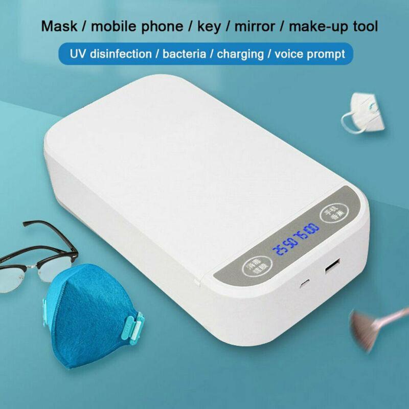 UV Cell Phone Sterilizer Box Face masks Aromatherapy Sanitizer Disinfection Case