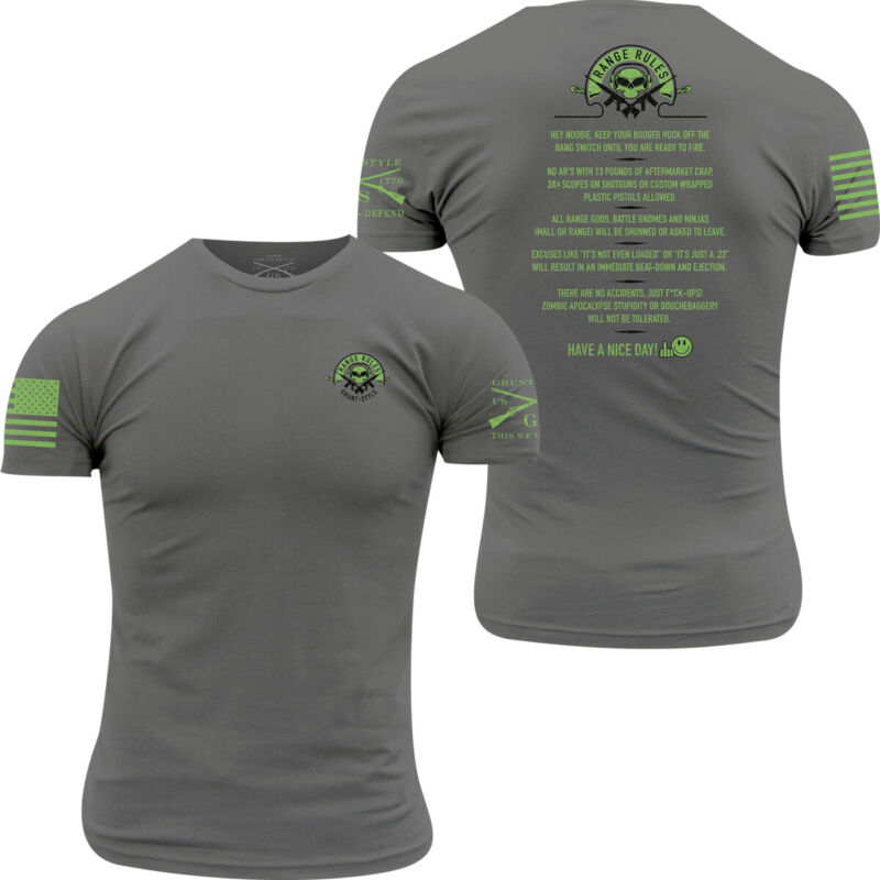Grunt Style Range Rules T-Shirt - Charcoal