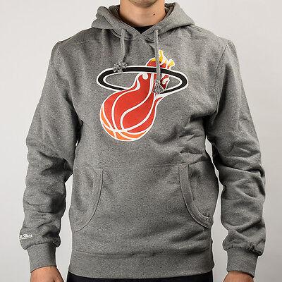 Mitchell & Ness NBA Miami Heat Team Logo Hoody TEAMLOGOHOOD-MIAHEA-GRY Team Logo Hoody