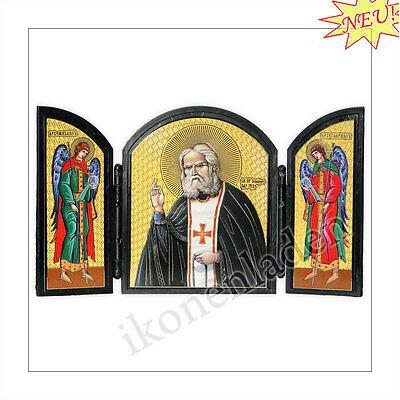 Ikone Triptychon Seraphim von Sarow Orthodox icon икона Серафим Саровский