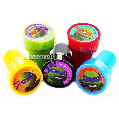 Ninja Turtles Goodie Bags (Ninja Turtles TMNT Authentic 10 Licensed Self Inking Stampers Goodie Bags)