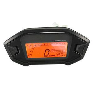 Motorcycle Odometer Speedometer Tachometer Universal LCD Digital Backlight L3