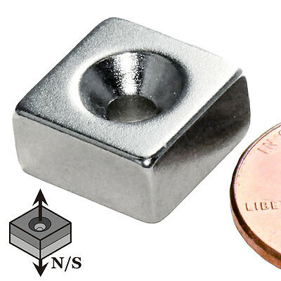 Cms Magnetics N42 Neodymium Magnet 12x 12x 14 With 6 Countersunk Hole