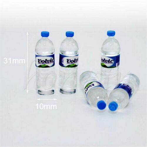 2pcs Bottle Water  Drinking Miniature DollHouse 1:12 Toys Accessory Collection