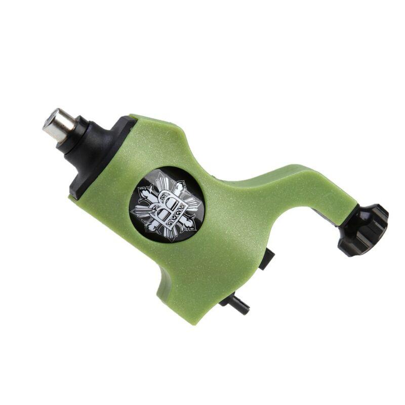 Plastic Rotary Tattoo Machine Gun Bishop Style Shader Liner For RCA Cord Green