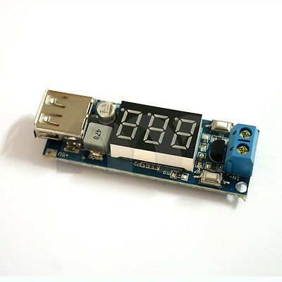Two-wire Voltmeter 5v Usb Charger Or Power Supply Dc-dc Buck 6.5-40v To 5v 2a