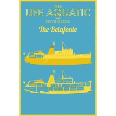 F1478 Wes Andersons The Life Aquatic Silk Poster 24X36 40In