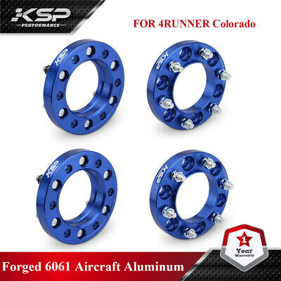 """KSP 1"""" Wheel Spacers 6x5.5 (139.7mm) 12x1.5 106mm Hubcentric Tacoma 4 Runner"""