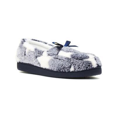 Womens Grey Slippers Star Motif Cosy Winter Warm Slipper The Slipper Company