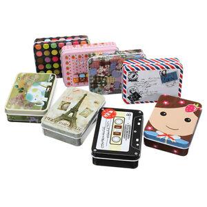 Small Rectangular Storage Jars Gift Jewelry Iron Tin Box