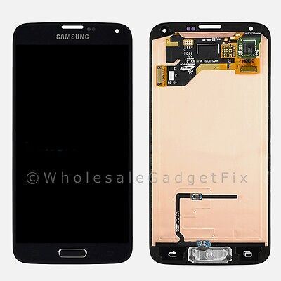 USA Samsung Galaxy S5 i9600 G900A LCD Screen Touch Digitizer Home Button Flex A
