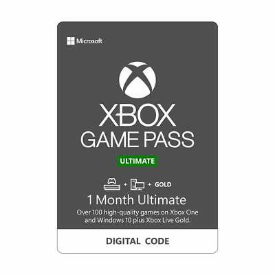 Xbox Live Gold & Game Pass Ultimate Key,1 Month (2 x 14...