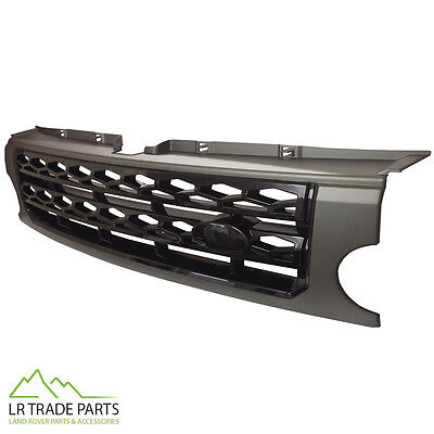 LAND ROVER DISCOVERY 3 FRONT GRILLE UPGRADE DISCO 4 STYLE CONVERSION GREY/BLACK