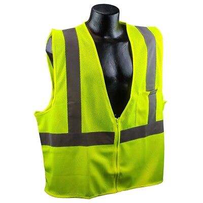 Full Source Class 2 Reflective Mesh Safety Vest With Pocket Yellowlime