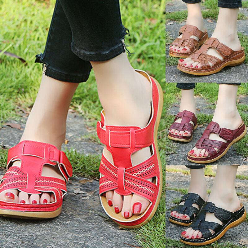 women summer orthopedic sandals slip on comfy