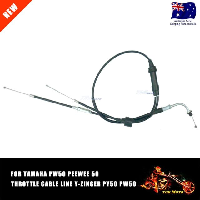 YAMAHA PW50 PEEWEE 50 THROTTLE CABLE LINE  Y-ZINGER PY50 PW 50cc Bike All year