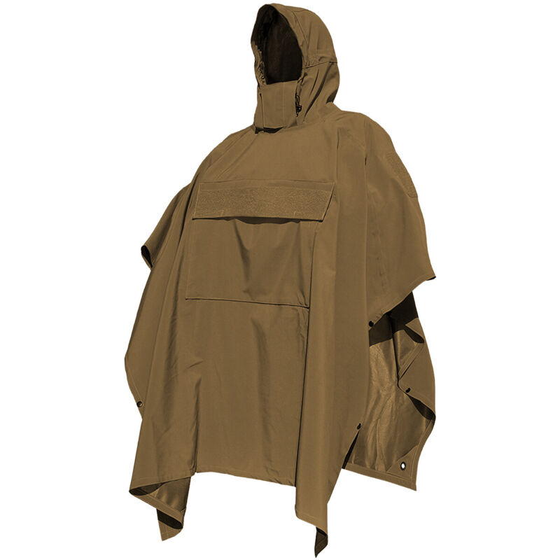 Hazard 4 Poncho Villa Smartskin Softshell Poncho Army Camping Rain Shower Coyote