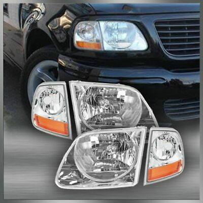 Lightning Style Headlights & Corner Parking Lights Kit Set for F150 Expedition