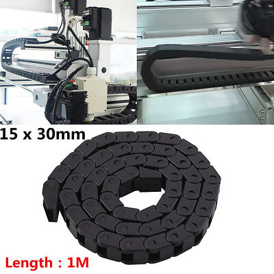 Plastic Drag Chain 15 X 30mm 1m 40 Towline Carrier Wire Cable Cnc Machine Tool