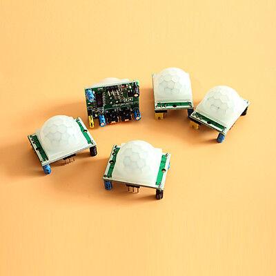 5pc Hc-sr501 Infrared Pir Motion Sensor Module For Arduino Raspberry Pi Us Stock