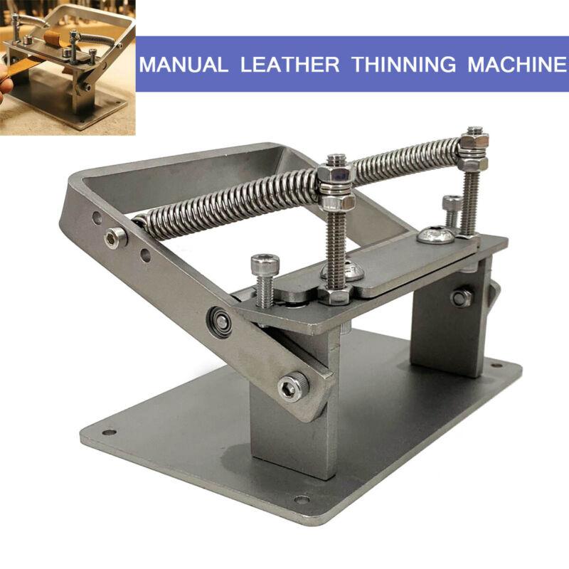 NEW Leather Peeling Machine Skiver Peeler Splitter Skiving Paring Machine DIY US