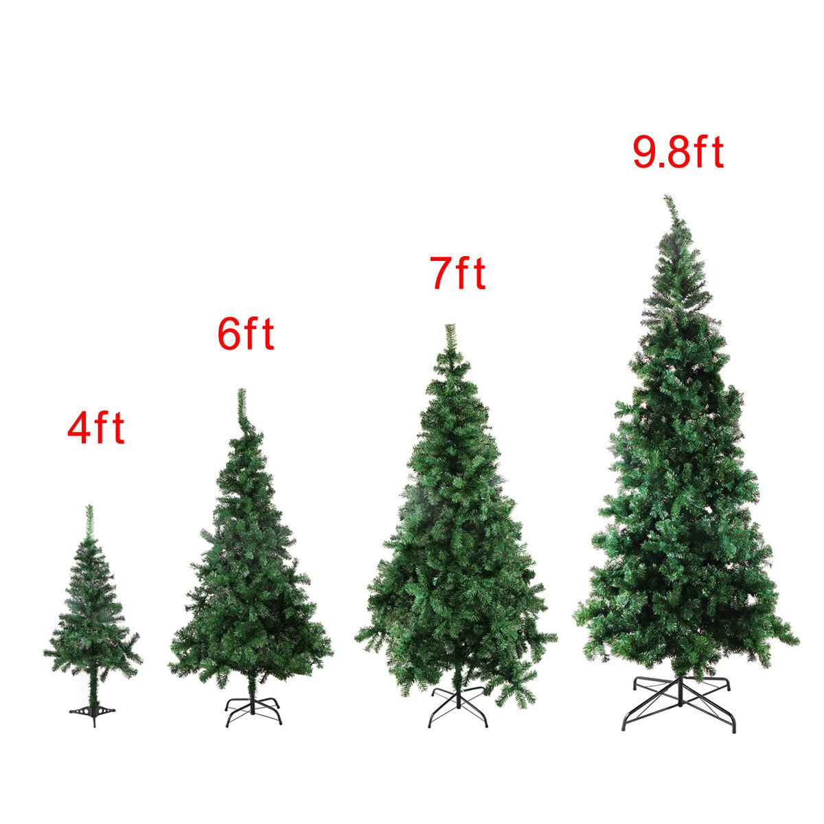 4/6/7/9.8 Feet Tall Christmas Tree W/Stand Holiday Season In