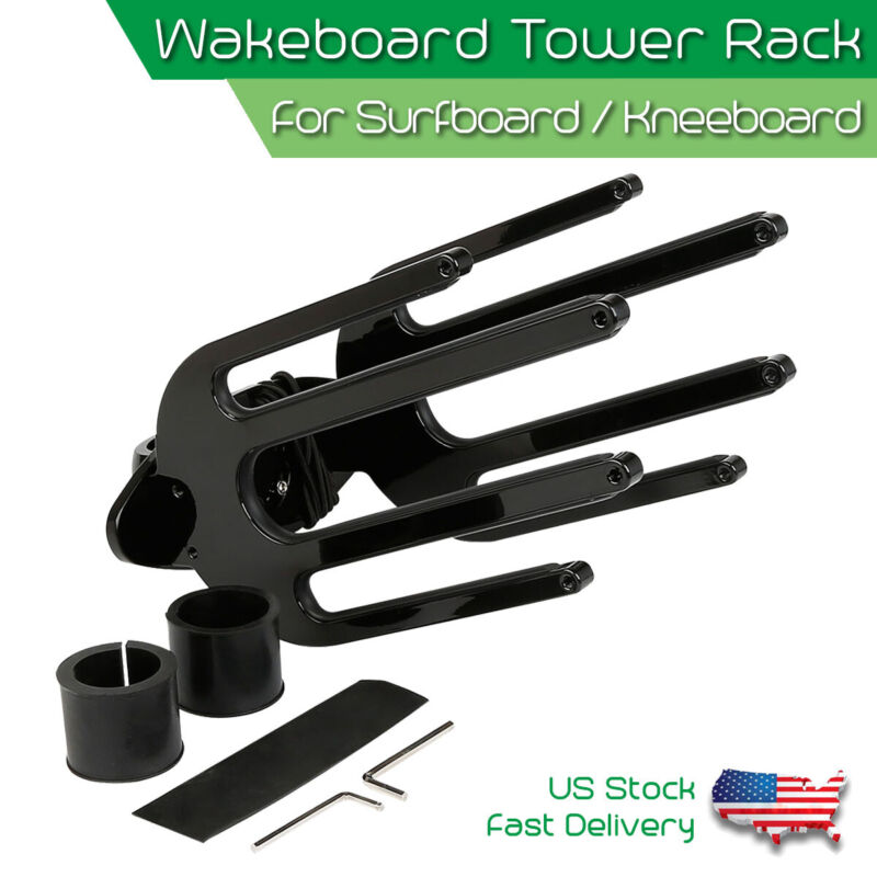 "Wakeboard Surfboard Tower Rack Waterski Board Holder Fit for 1.5"" - 2.5"" Tower"