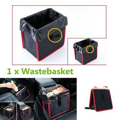 Universal 1Pcs Car Litter Garbage Leak Proof Bin Wastebasket Holder Storage Box
