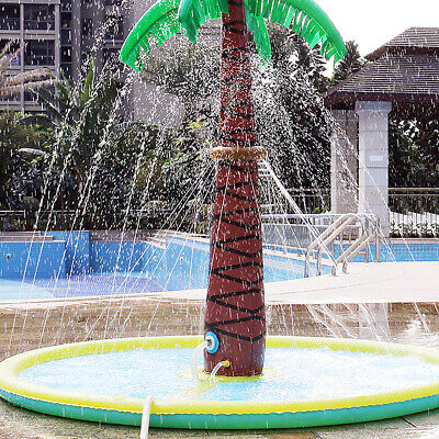 Inflatable Coconut Palm Water Sprinkler Fountain Swimming Mat Toy For Kids Adult
