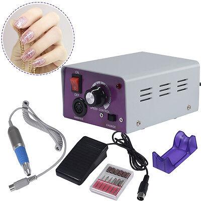 Electric Pro Nail File Acrylic Pedicure Drill Sand Machine Kit Set Salon New