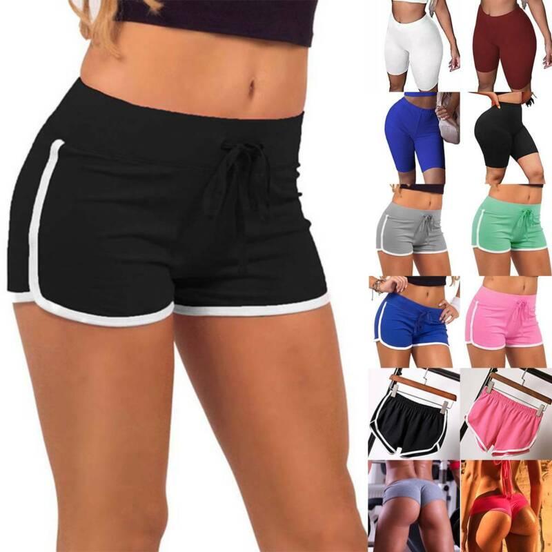 Damen Gym Yoga Shorts Hotpants Sports Fitness Jogger Kurzehose Jogginghose Hosen
