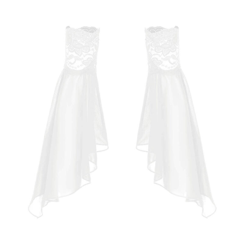 Pair Chiffon Flare Sleeves Lace Cuff Detachable Sheer Women Clothing Accessories