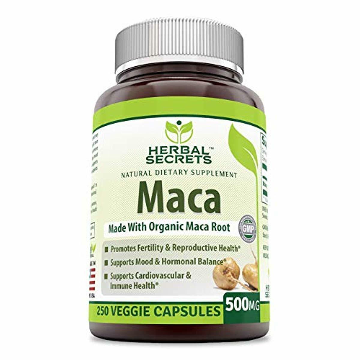 Herbal Secrets Maca 500 Mg 250 Veggie Capsules  - Supports R