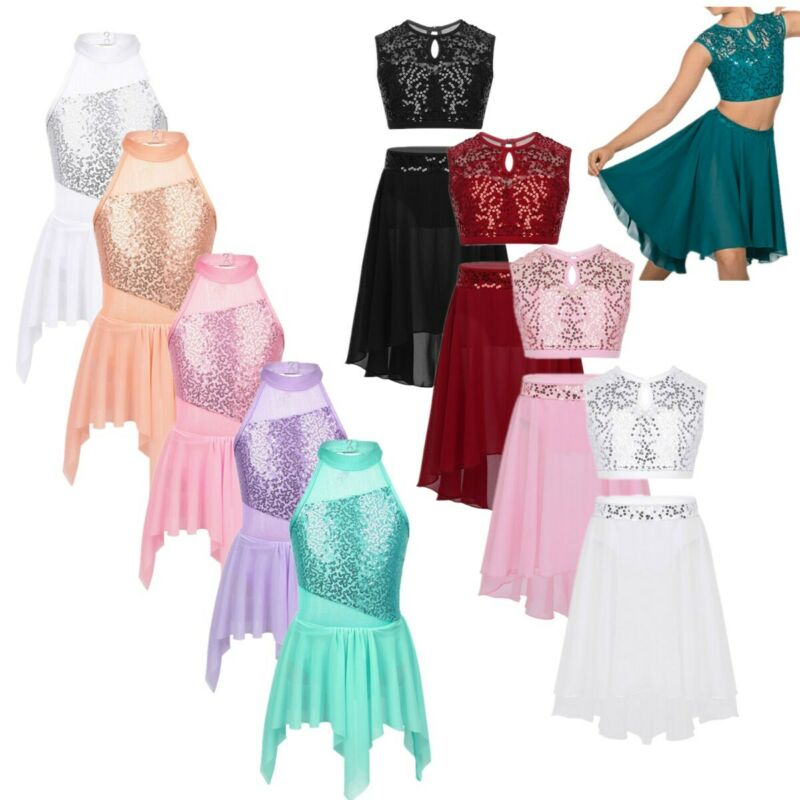 Ballerina Lyrical Dance Dance Solo Recital Freestyle Contemporary Dress 12-14 uk