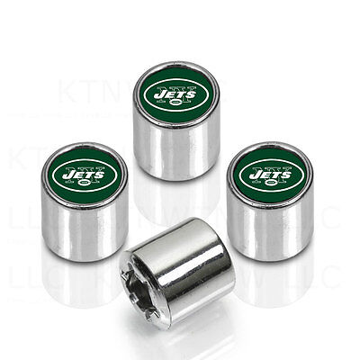 New York Jets Tire Cover (New NFL New York Jets Car Truck Chrome Finish Tire Valve Stem Caps)