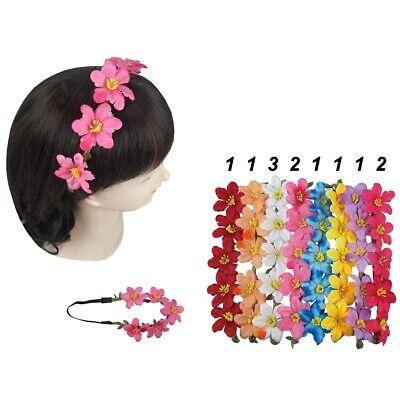 12 pieces Boho Halo Flower Bridal Headband Hairband Garland Wedding Prom Party (Flower Halo Headband)